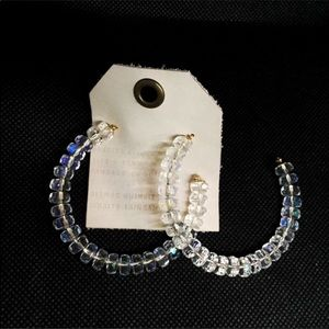 NWT Anthropologie Beads Hoop Earrings